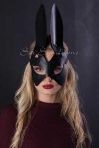 Maske katze mit gravur - Ledermasken