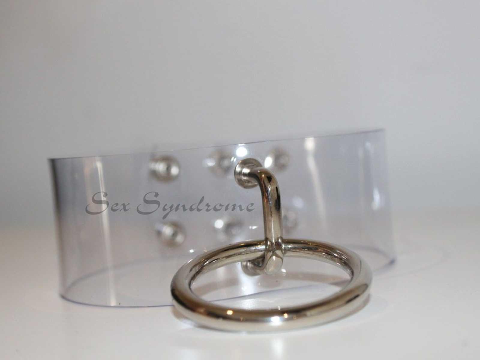 Choker transparent sexy fetish accessoire