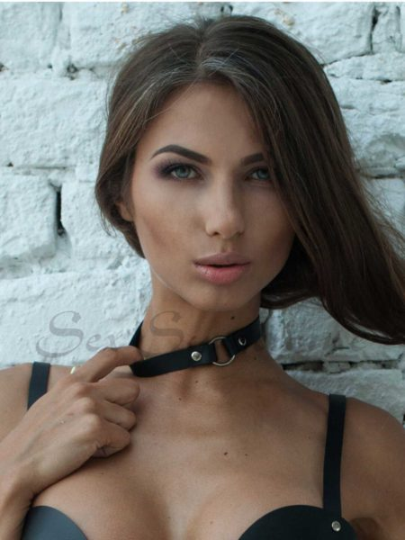 Choker classic with Ring sexy fetish accessoire
